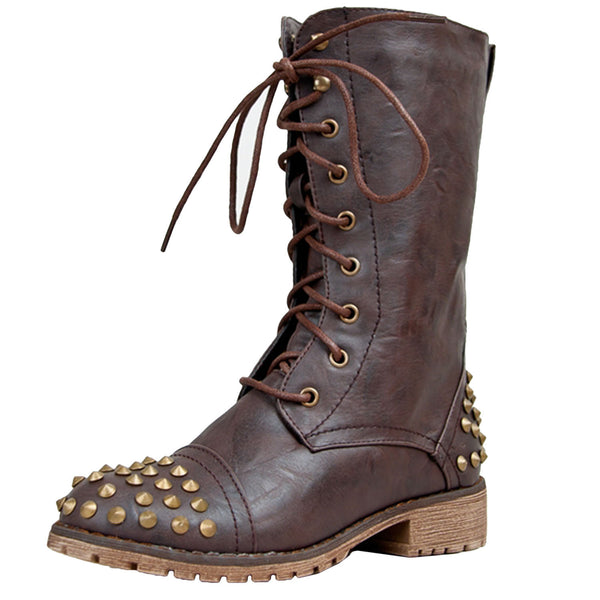 Harley-10 Studded Combat Boots