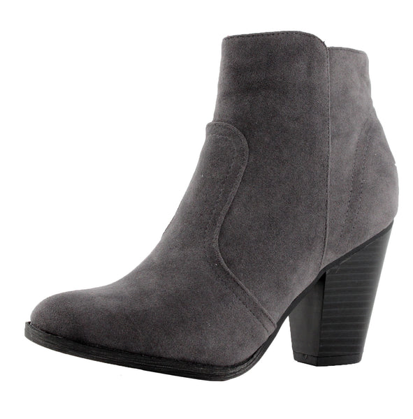 Heather-34W Chunky High Heel Ankle Boots