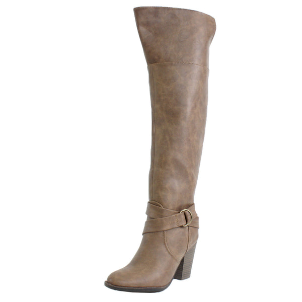 Heather-37 Knee High Chunky High Heel Riding Boots