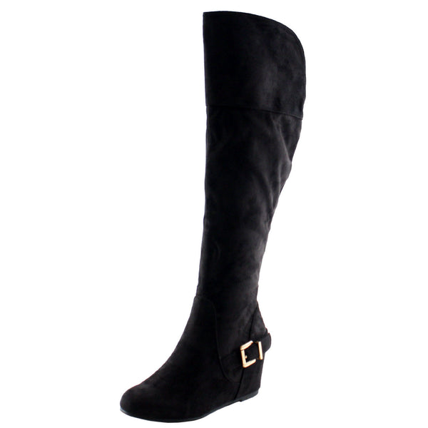 Irma Knee High Wedge Boots