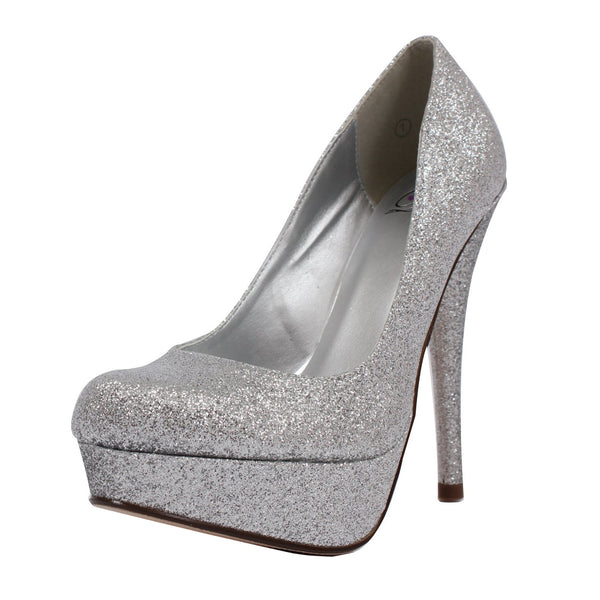 Jones Metallic Glitter Stiletto Pumps