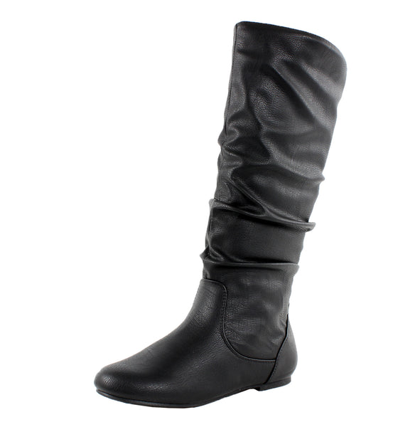 Kalisa-04N Slouchy Knee High Boots