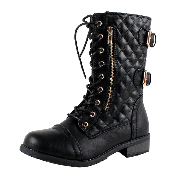 Kano Combat Quilted Combat Boots