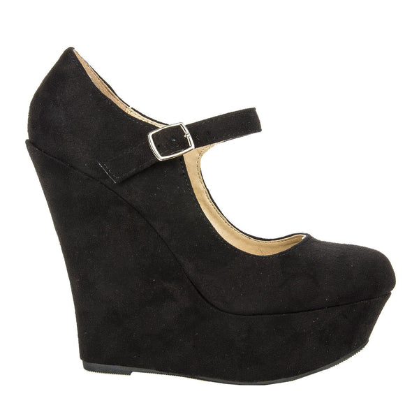 Kayla Mary Jane Platform Wedges