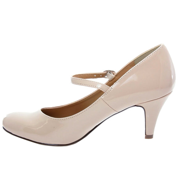 Kaylee-H Mary Jane Low Heel Pumps
