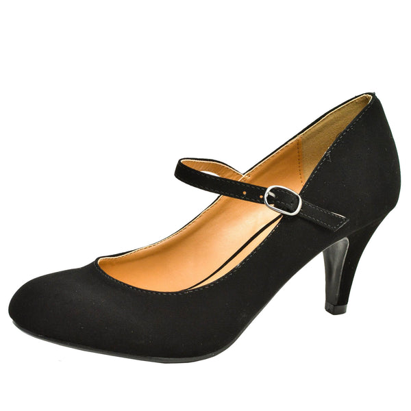 Kaylee-H Low Mid Heel Mary Jane Pumps