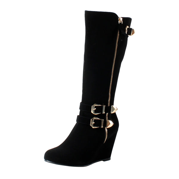 Kiev Slouchy Wedge Ankle Boots