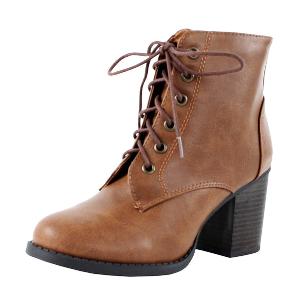 Korman-S Lace Up Chunky Heel Ankle Boots