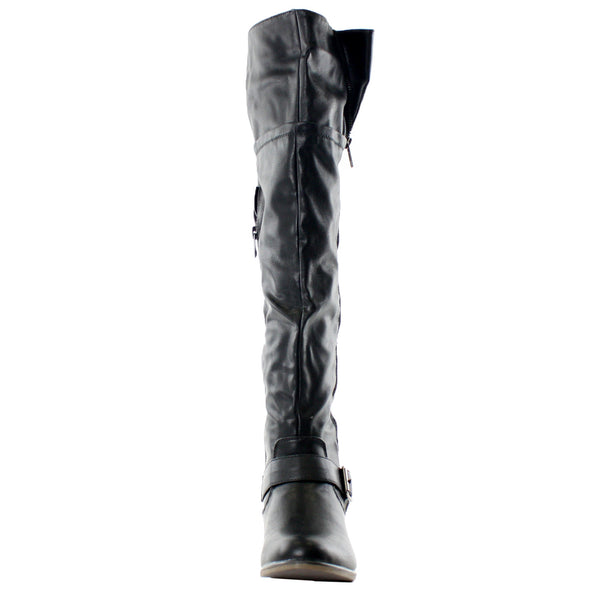 Legend-38 Slouchy Riding Over The Knee Boots