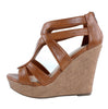 Lindy-1 Gladiator Open Toe Wedge Platform Sandals