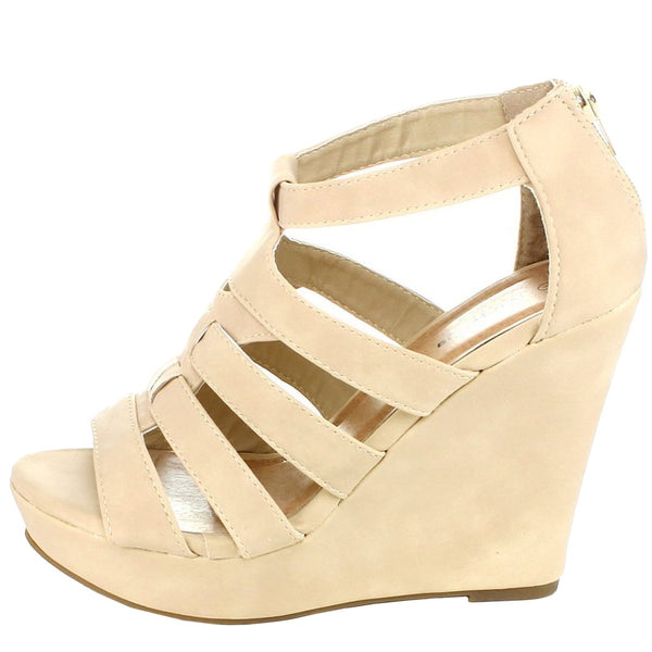 Lindy-50 Strappy Wedge Platform Sandals