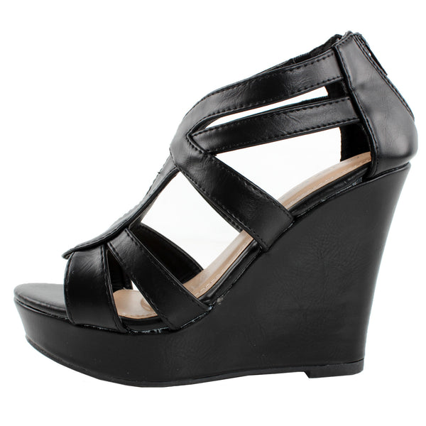 Lindy-88 Strappy Platform Wedge Sandals