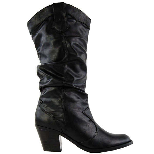 Lode Western Cowboy Mid-Calf Boots