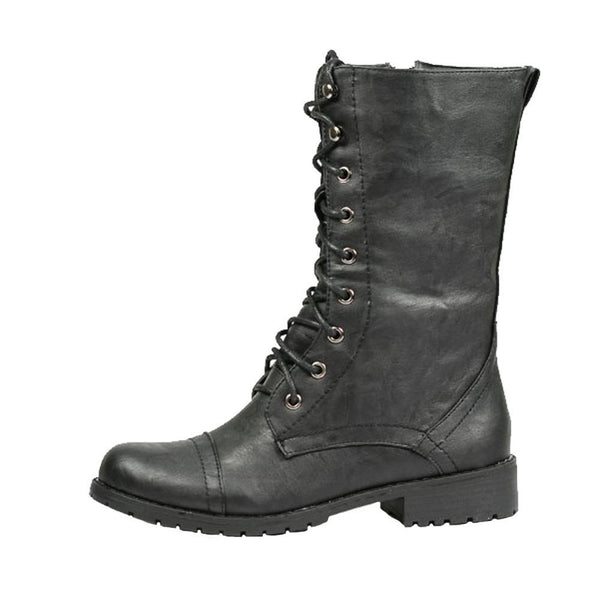 Lug -11 Lace-Up Military Ankle Boots