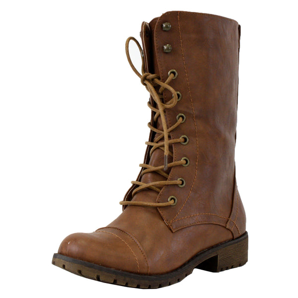 Lug-11 Lace Up Combat Ankle Boots