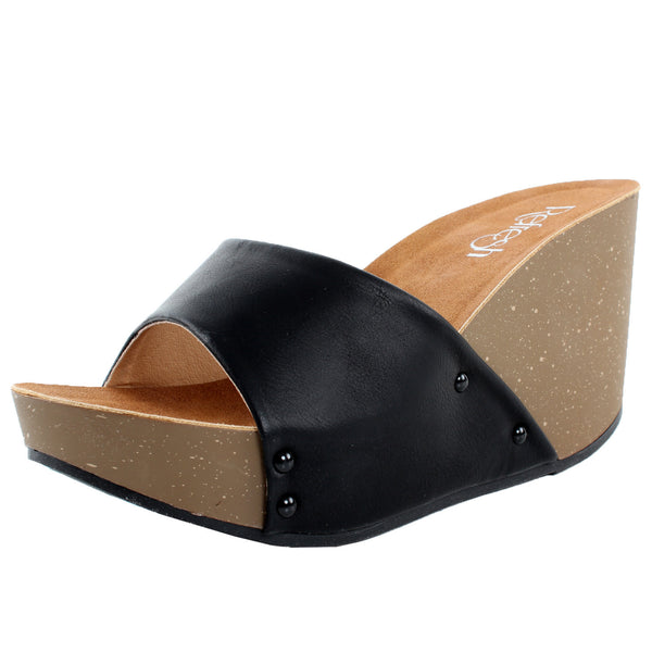 Mara-03 Open Toe Slip On Platform Sandals