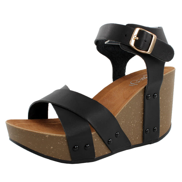 Mara-05 Ankle Strap Wedge Sandals