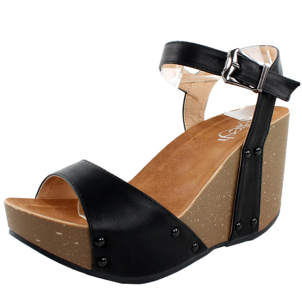 Mara-06 Ankle Strap Open Toe Platform Sandals
