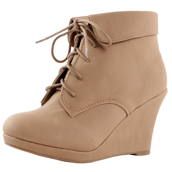Max-35 Lace Up Ankle Booties