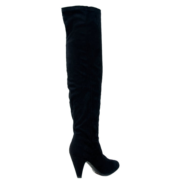 Method-01 Faux Suede Thigh High Boots