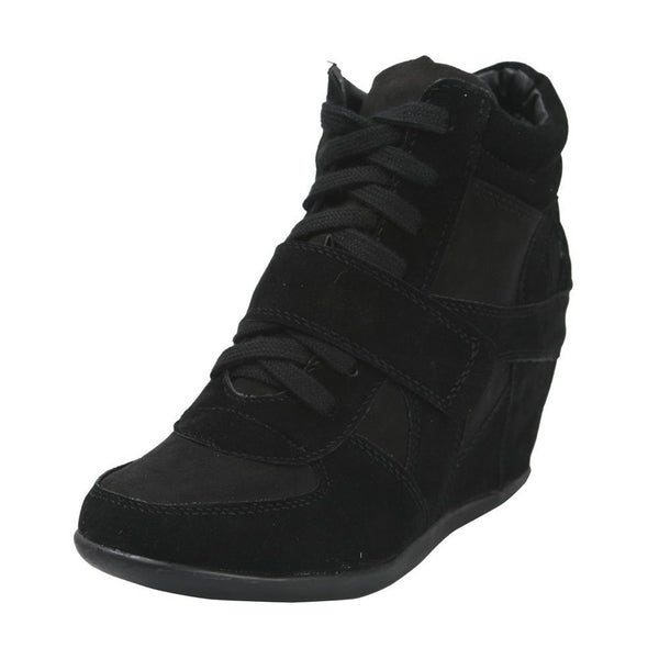 Metro-01W Lace Up Wedge Sneakers