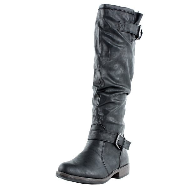 Montage-02N Slouchy Motorcycle Boots