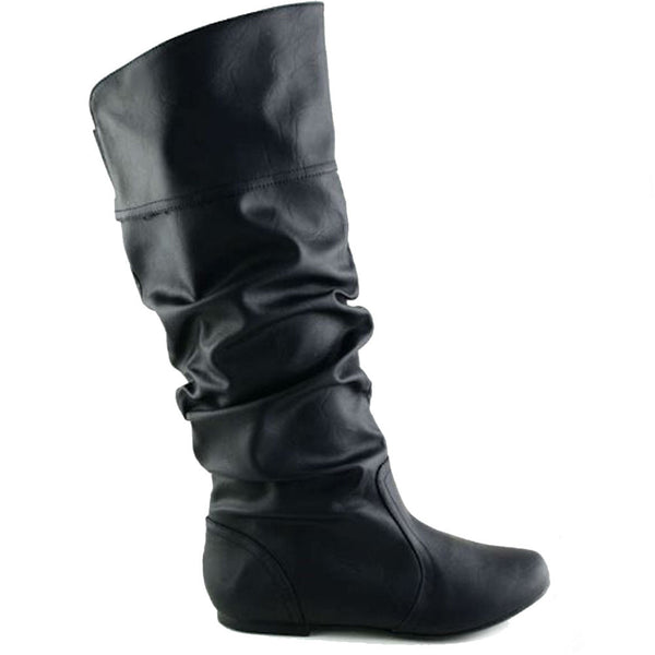 Neo-144 Pull On Slouchy Knee High Boots