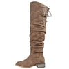 Olympia-01 Slouchy Thigh High Boots