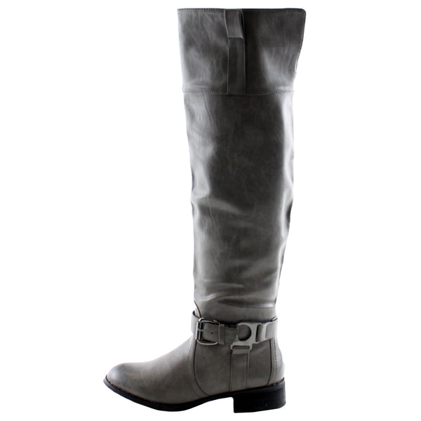 Olympia-05 Knee High Motorcycle Boots