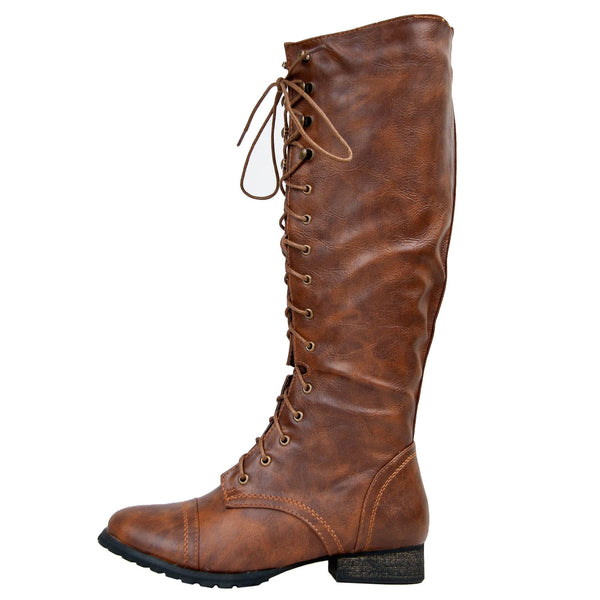 Outlaw-13 Lace Up Knee High Boots