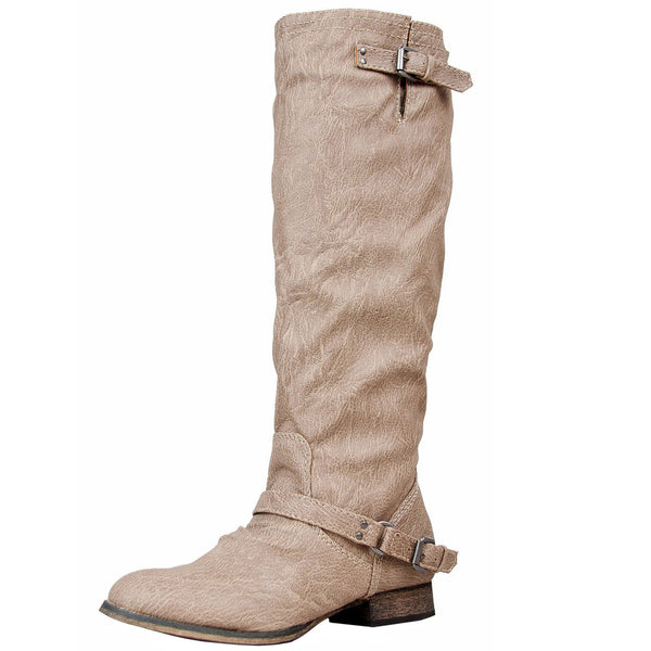 Outlaw-81 Knee High Western Riding Boots