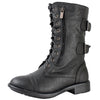 Pack-72 Lace Up Combat Ankle Boots
