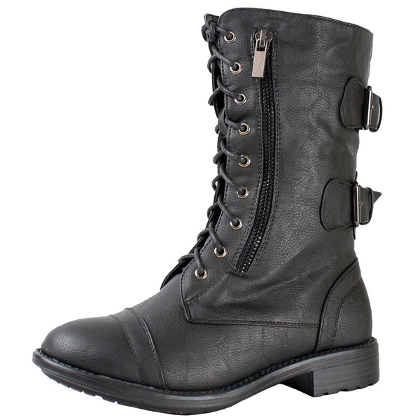 Pack-72 Military Lace Up Boots