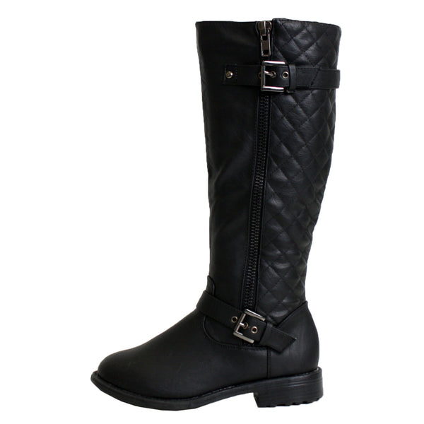 Pack-95 Riding Quilted Knee High Boots