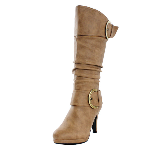 Page-22 Slouchy Knee High High Heel Boots