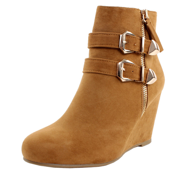 Paola-90 Wedge Heel Ankle Boots