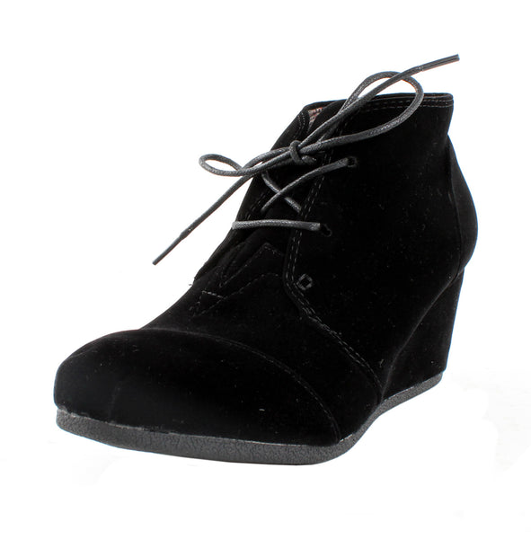 Patricia-01 Wedge Lace Up Ankle Boots
