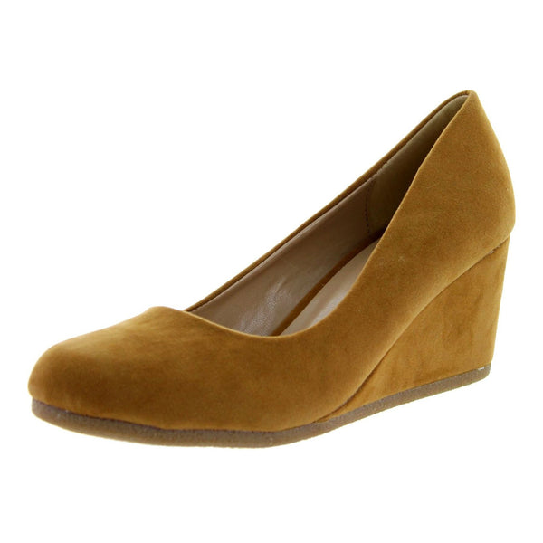 Patricia-02 Round Toe Wedge High Heel Pumps