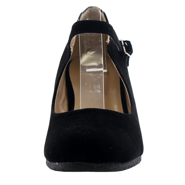 Patricia-05 Mary Jane Round Toe Wedges