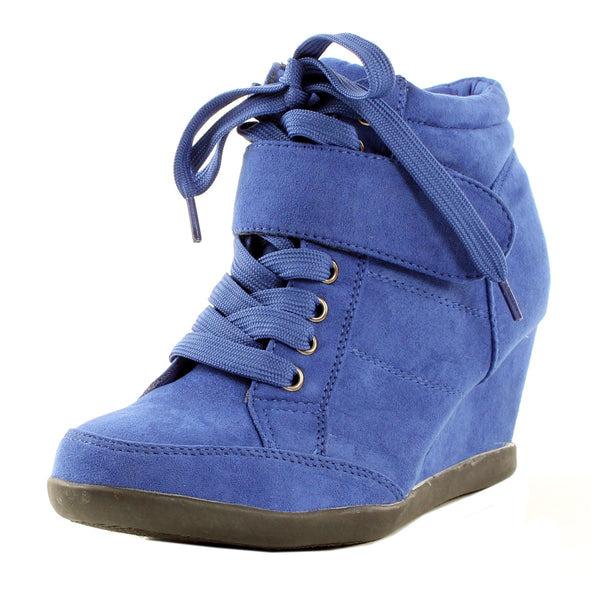 Peggy-51 Wedge Lace Up Velcro Ankle Boot Sneakers