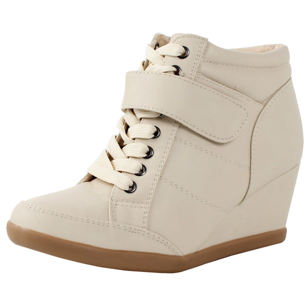 Peggy-61 High Top Wedge Ankle Boot Sneakers