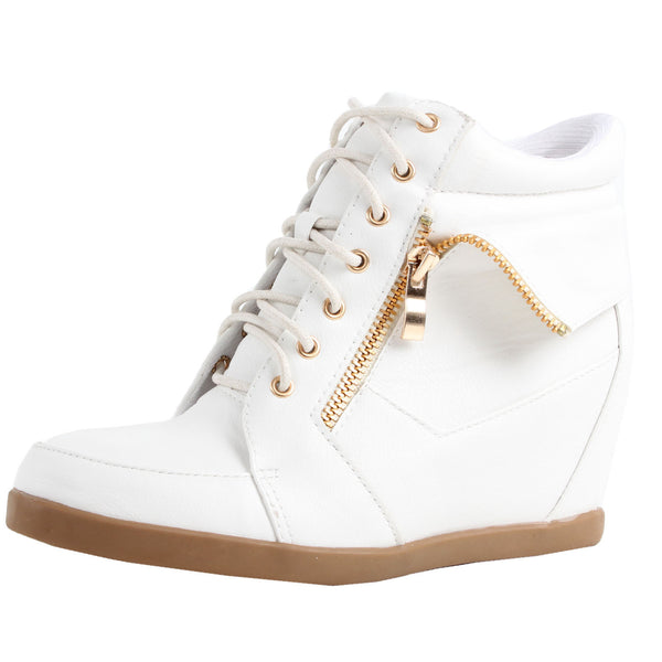 Peter-30 Ankle Wedge Heel Boot Sneakers