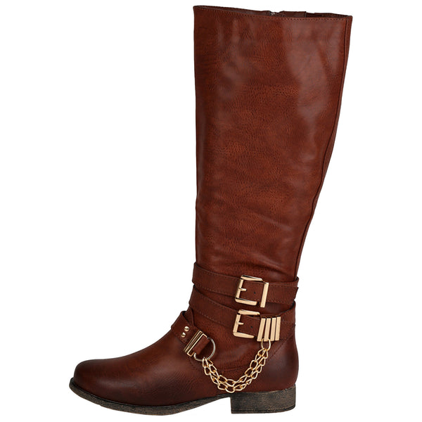Prima-12H Riding Chain Knee High Boots