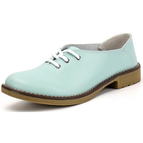 Genuine Leather Oxford Shoes Women Flats Fashion Women Shoes Casual Moccasins Loafers Ladies Shoes