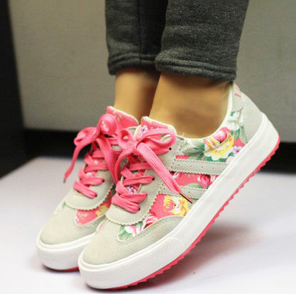 Women casual shoes printed casual shoes women canvas shoes tennis fashion women sneakers
