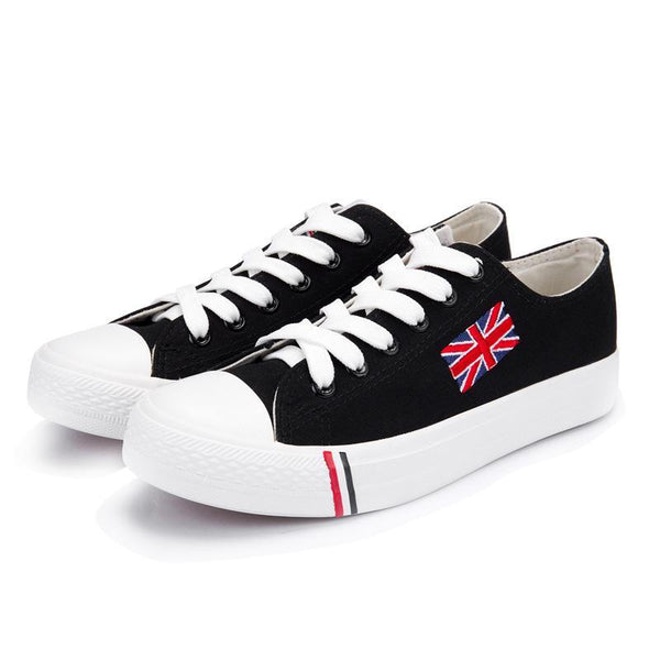 British flag design casual women canvas sneaker skater shoes