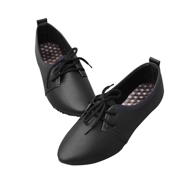 Women Spring Lace Up Low Heels Pointed Toe Casual Wedge Shoes Ladies High Quality PU Comfortable  Shoe Woman Leisure