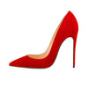 Genuine Leather Sheepskin Kid Suede Classical Shallow Women Dress Shoes Thin Stiletto High Heels Sexy Woman Party Pumps