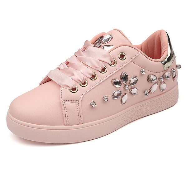 593b67c13a New Pearl Espadrille Soft Leather Rhinestone Women ... - Guilty Shoes