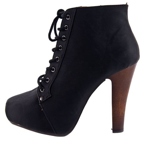 Puffin-06 Lace Up Platform Bootie
